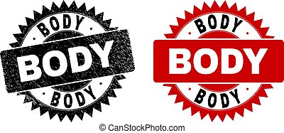 BODY Black Rosette Watermark with Unclean Texture