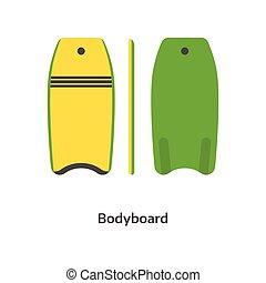 Body Board Vector Illustration