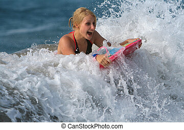 body-boarding, amusement