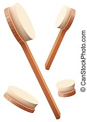 Body Brushes Loosely Arranged Massage Set