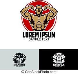 Body builder logo template