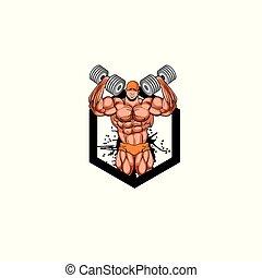 Body builder logo vector format