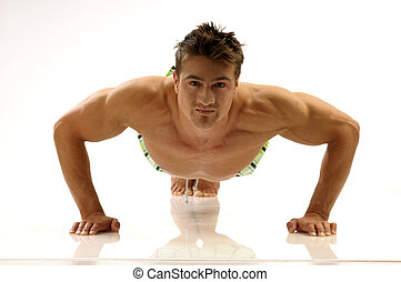 Body-building - A man improving his condition