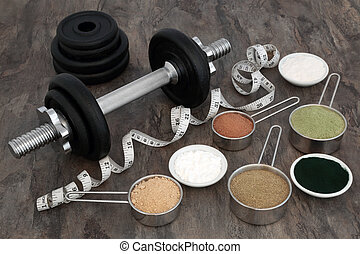 Body Building Equipment and Food Supplements