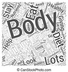 Body Building for Fitness Word Cloud Concept