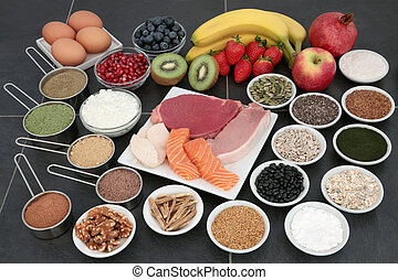 Body Building Health Food Selection