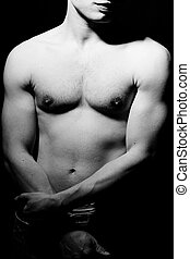 Body Building - male body with lots of muscles building