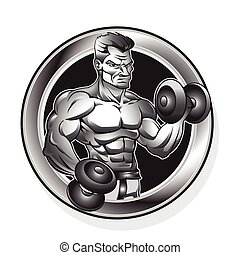 body-building man