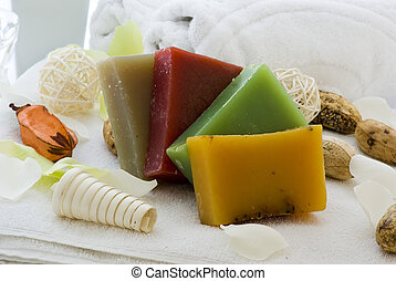 Body Care - Body care and wellness elements as decoration.