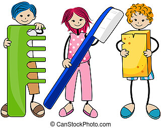 Body Care Kids with Clipping Path