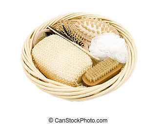 Body Care Set - A basket full of luxury body care items