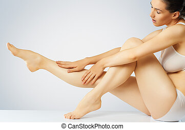 body care - she cares about her body