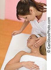 Body care - Woman luxury facial massage