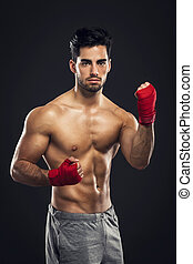 Body Combat atlhlete - Portrait of a young male Body Combat...