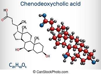 body., disolver, laxante, choleretic, chenodeoxycholic, cholagogue, ácido, fundar, cdca, él, cálculos biliares, bilis, utilizado, naturally, molecule., c24h40o4, chenocholic, ácido