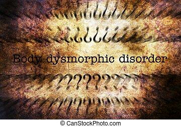 Body dysmorphic disorder grunge concept