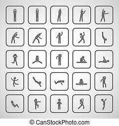 body exercise stick figure icon
