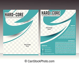 body fitness or gym flyer template design