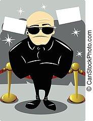 A body guard in the Oscars' night