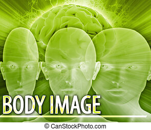 Body image Abstract concept digital illustration - Abstract...