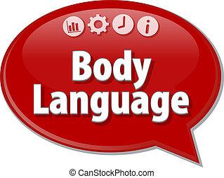 Body Language Business term speech bubble illustration -...