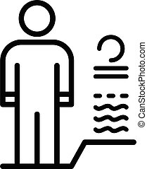 Body man authentication icon, outline style