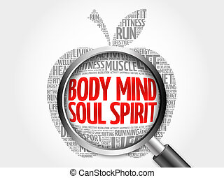 Body Mind Soul Spirit apple word cloud