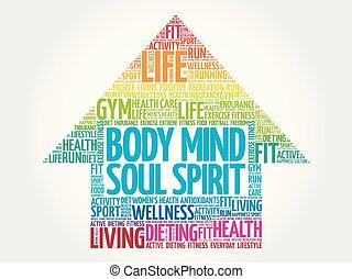 Body Mind Soul Spirit arrow