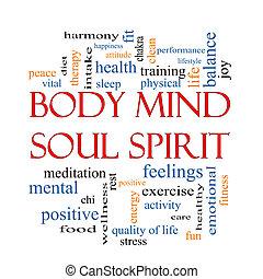 Body Mind Soul Spirit Word Cloud Concept