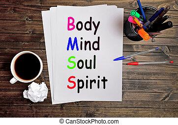 Body Mind Soul Spirit words