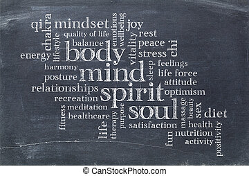 body, mind, spirit and soul word cloud - body, mind, spirit...