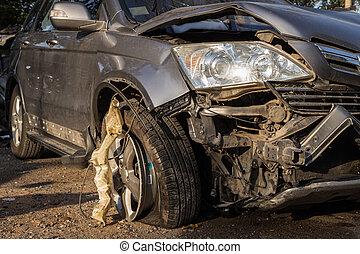 Body of car get damaged by accident