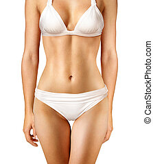 body of woman on white background l
