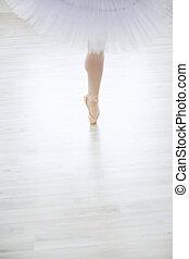 Body part - Dancing ballerina in the studio