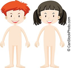 Body parts of boy and girl