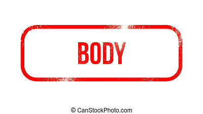 body - red grunge rubber, stamp