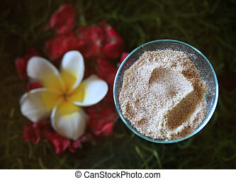 Body Scrub - Spa accessories: body scrub with brown sugar...