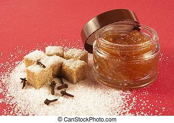 Body scrub with brown sugar,spiciness - Body scrub with...