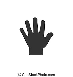 Body senses tact. Hand icon on a white background