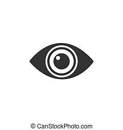 Body senses vision. Eye icon on a white background
