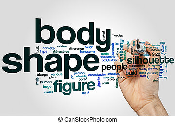 Body shape word cloud