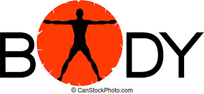 BODY Silhouette Vector - Vector illustration featuring the...