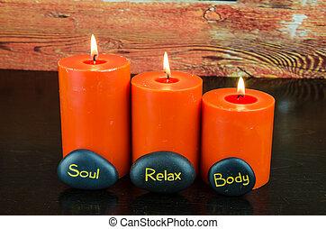 body, soul, relax lava stones