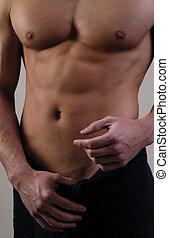 body - Close up of male torso