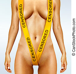 body with yellow censorship tapes