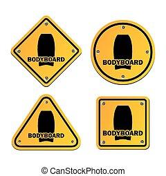 bodyboard, signes