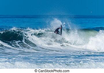 bodyboarder, θαλάσσιο σπορ , του ωκεανού ανεμίζω