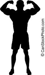 bodybuilder, 侧面影象