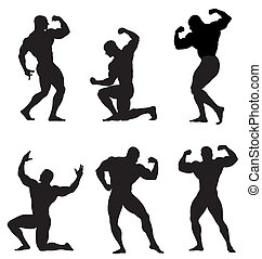 Bodybuilder - Abstract vector illustration of bodybuilder