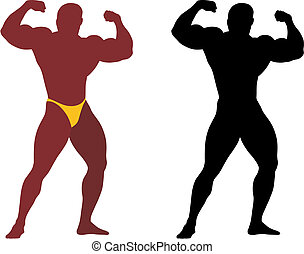 Bodybuilder - Abstract vector illustration of bodybuilder ...